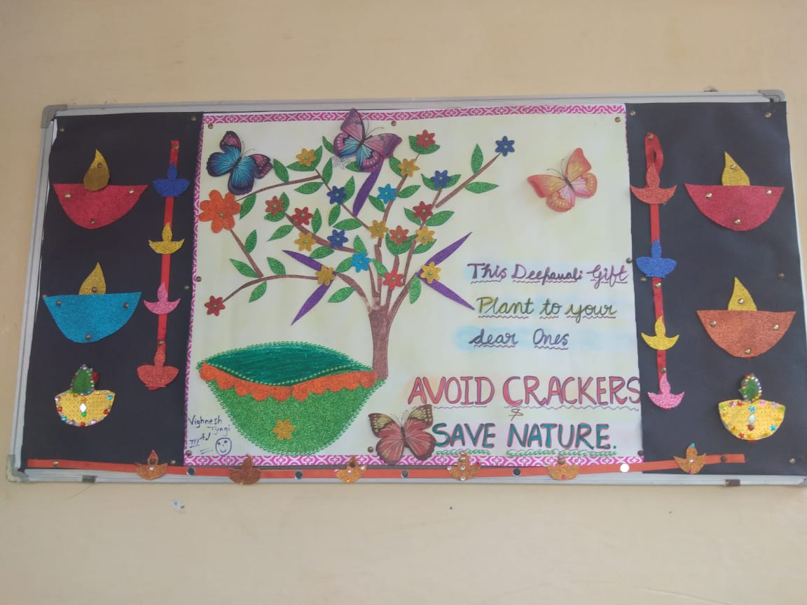 Bulletin board competition on say no to crackers air pollution click here to view more images
